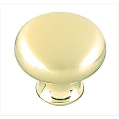 Allison Value Hardware 1-3/16 Inch Diameter Sterling Brass Cabinet Knob