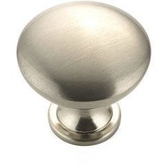 Contemporary 1-3/16 Inch Diameter Knobs with Nickel Finish