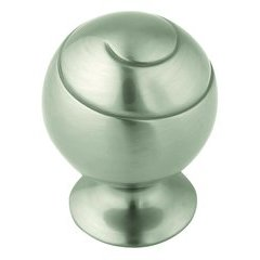 Swirl'Z 1-3/4 Inch Diameter Satin Nickel Cabinet Knob
