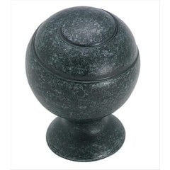 Swirl'Z 1-1/8 Inch Diameter Wrought Iron Dark Cabinet Knob