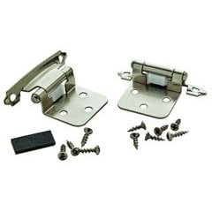 Variable Overlay Hinge 1-13/16 Inch Width - Polished Chrome - Pair