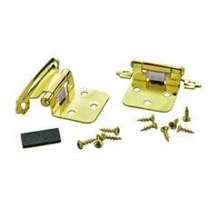 Variable Overlay Hinge 1-13/16 Inch Width - Polished Brass - Pair