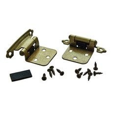 Variable Overlay Hinge 1-13/16 Inch Width - Burnished Brass - Pair