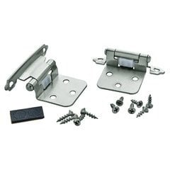 Variable Overlay Hinge 1-13/16 Inch Width - Satin Nickel - Pair