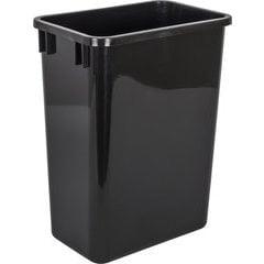 35 Quart Plastic Waste Container - Black