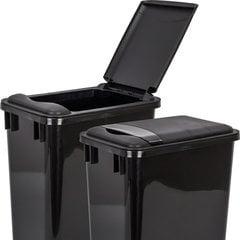 Lid for 35 Quart Plastic Waste Container - Black