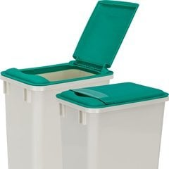 Lid for 35 Quart Plastic Waste Container - Green