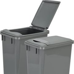 Lid for 35 Quart Plastic Waste Container - Grey