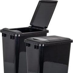 Lid for 50 Quart Plastic Waste Container - Black