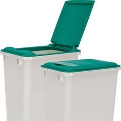 Lid for 50 Quart Plastic Waste Container - Green