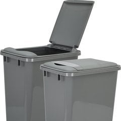 Lid for 50 Quart Plastic Waste Container - Grey