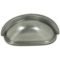 Princeton 3 Inch Center to Center Weathered Nickel Cabinet Cup Pull <small>(#CP1499-WEN)</small>