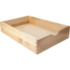 Solid Birch Wood Drawer Box with Scoop - 7-7/16 in. Width, 3-1/2 in. Height, 22 in. Depth