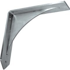 Arrowwood Countertop Support 16 inch x 16 inch - Brushed Stainless