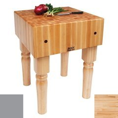 30 Inch x 24 Inch x 10 Inch AB Butcher Block with Slate Gray Base Color - Maple Top