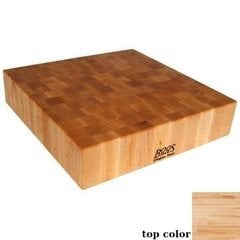 24 Inch x 24 Inch x 4 Inch Square Chinese Chopping Block - Maple
