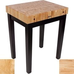 30 Inch x 24 Inch x 4 Inch Chef Block with Natural Base Color - Maple Top