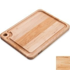 20 Inch x 15 Inch x 1-1/4 Inch Prestige Cutting Board with Groove and Finger Grip Hole - Maple