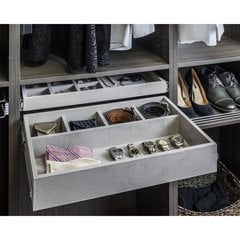 5 Compartment Felt Jewelry Organizer Drawer Kit - Grey