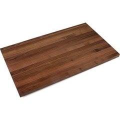 109 Inch x 27 Inch x 1-1/2 Inch Butcher Block Kitchen Countertop with Varnique Finish - Walnut