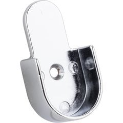 Mounting Bracket for 1-1/16 Inch Round Closet Rod 32mm Knock-in Type - Chrome