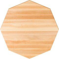 48 Inch Diameter Octagonal Butcher Block Kitchen Countertop - Maple