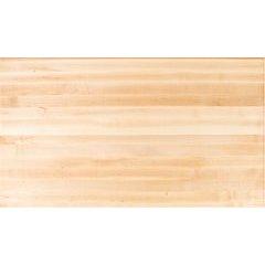 84 Inch x 36 Inch x 1-1/2 Inch Rectangular Butcher Block Kitchen Countertop - Soft Maple
