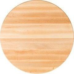 36 Inch Diameter Round Butcher Block Kitchen Countertop - Maple