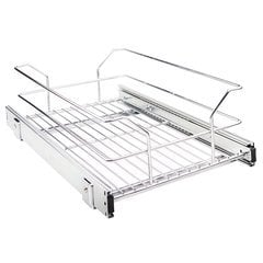 11-3/8 Inch Pullout Basket for 12 Inch Cabinet Opening - Polished Chrome