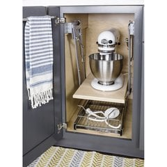 Soft-close Mixer/Appliance Lift - Chrome