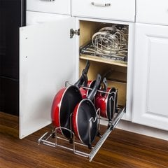 Cookware Organizer for 15 Inch Base Cabinet - Chrome