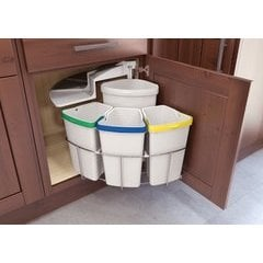 Oko Center 4 Waste/Recycling Center - (3) 10 qt and (1) 13 qt