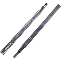 18 Inch Soft Close Full Extension Ball Bearing Side Mount Drawer Slide - Cadmium