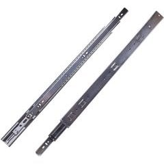 20 Inch Soft Close Full Extension Ball Bearing Side Mount Drawer Slide - Cadmium
