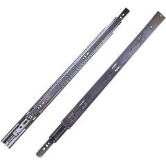 24 Inch Soft Close Full Extension Ball Bearing Side Mount Drawer Slide - Cadmium