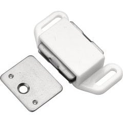1-5/8 Inch Magnetic Catch - White