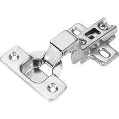 Slide-On Full Inset 105 Degree Frameless Hinge - Polished Nickel