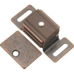 1-7/8 Inch Double Magnetic Catch - Statuary Bronze
