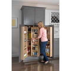 Hardware Resources 12 Inch Width Pantry Door Mount Cabinet Organizer Wood Min Cabinet Opening 13 Inch Width X 48 Inch Height Pdm45 Cabinetparts Com