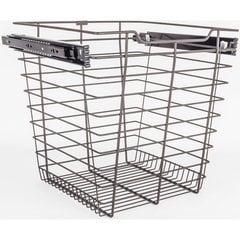 14 Inch D x 17 Inch W x 17 Inch H Closet Pullout Basket - Dark Bronze