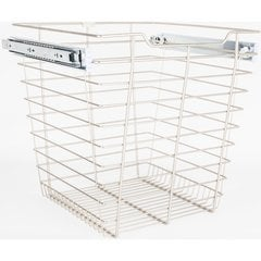 14 Inch D x 17 Inch W x 17 Inch H Closet Pullout Basket - Satin Nickel