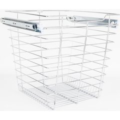 16 Inch D x 17 Inch W x 17 Inch H Closet Pullout Basket - Polished Chrome