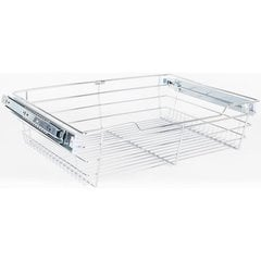 16 Inch D x 17 Inch W x 6 Inch H Closet Pullout Basket - Polished Chrome