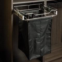 14 Inch Pullout Hamper - Polished Chrome