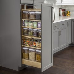 14-1/2 x 22-1/4 x 53 Inch Wood Pantry Cabinet Pullout