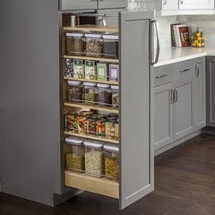 8-1/2 x 22-1/4 x 60 Inch Wood Pantry Cabinet Pullout