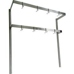 13-5/8 Inch x 108 Inch x 48 Inch Pot Rack - Stainless Steel