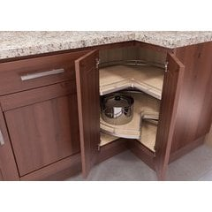 ReCorner Maxx Kidney Lazy Susan 30 inch Maple