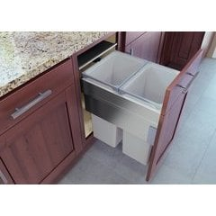 19-11/16 ENVI Space XX Pro Inch Pullout Waste Bin System with 2 Bins