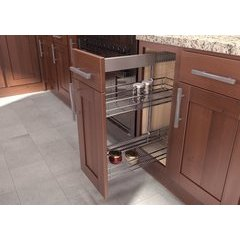 19.75 Inch Sub Side Pullout Pantry with 9 Inch Basket - Saphir Chrome